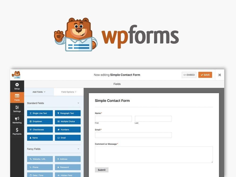 WPForms WordPress İletişim Formu Eklentisi
