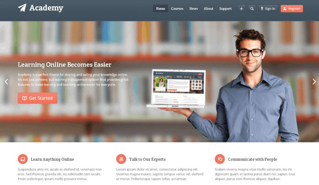 Wordpress Online Eğitim Teması