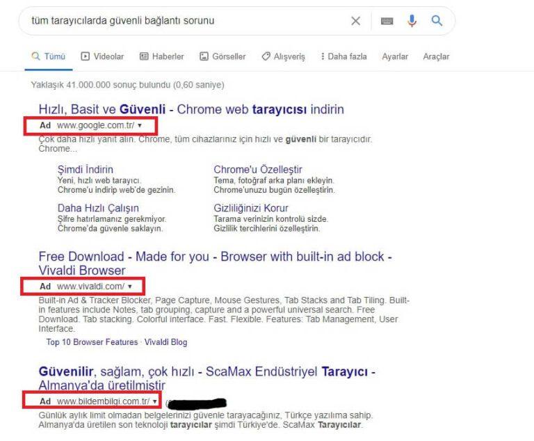 Chrome Reklam Virüsü Temizleme